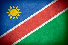 flag of Namibia - stock illustration