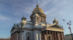 Saint Isaac's Cathedral morning motion timelapse 4K Stock Footage