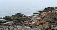 Maine's Rough and Rocky Coastline Stock Footage