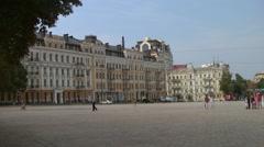 UKRAINE. KIEV. AUGUST 2011: Saint Sophia Square Stock Footage