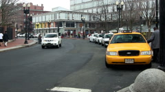 Traffic in Harvard Square Stock Footage