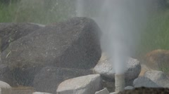 two geysers - stock footage