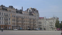 UKRAINE. KIEV. AUGUST 2011: Saint Sophia Square Stock Footage