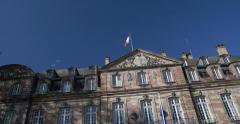 Hotel de ville in Strasbourg Stock Footage