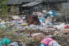 Pile of domestic garbage Kuvituskuvat