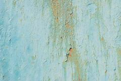 texture of old green peeling paint - stock photo