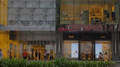Singapore - paragon mall on orchard road Stock Footage