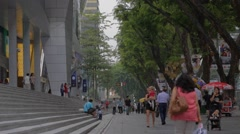 Orchard road - people walking Stock Footage