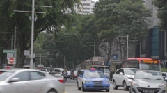 Car traffic on orchard and paterson road singapore Stock Footage