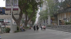 Orchard road - louis vutton ion Stock Footage