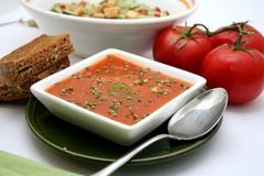 tomatoe soup - stock photo