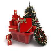 Stock Illustration of Christmas commerce