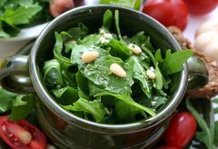 Rucola salad Stock Photos