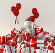 Christmas presents - stock illustration