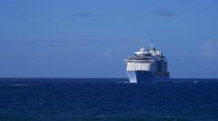 Cruise Ship Quantum of the Seas at sea 5 Stock Footage