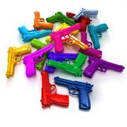Stock Illustration of Colorful guns