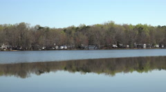 Chancellorsville Virginia beautiful lake campground pan 4K Stock Footage