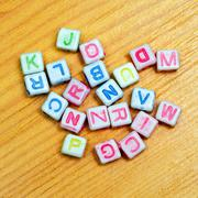 Alphabet dices Stock Photos