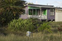 Dwelling on Barbados Island - stock photo