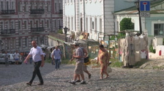 UKRAINE. KIEV. AUGUST 2011: St Andrew's Church and Hill - stock footage