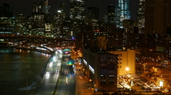 Wonderful time lapse shot of Manhattan street traffic Stock Footage