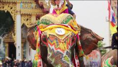Songkran festival Sukhothai Thailand. Stock Footage