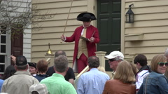 Colonial Williamsburg Virginia historic tourist auction 4K 030 Stock Footage