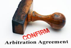 Arbitration agreement - confirm Stock Photos