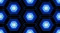 Tiled Animated Texture of Hexagons Stock Footage