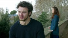 Couple crying after the end of love: sadness, heartbreak, loneliness, Stock Footage