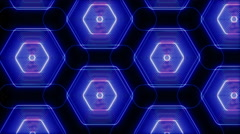 Hexagons Pulse and Lines Stock Footage