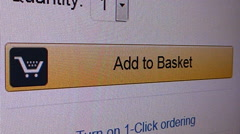 Online shopping.  Add to basket Stock Footage