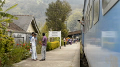Traveling by train, Sri Lanka, Asia Stock Footage