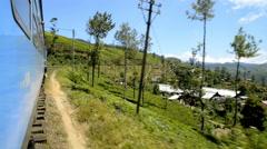 Traveling by train, Sri Lanka, Asia Stock Footage