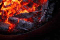 Burning fire Stock Photos