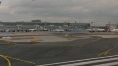 Airfield of Frankfurt Airport Germany Stock Footage
