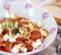 tomatensalat - stock photo