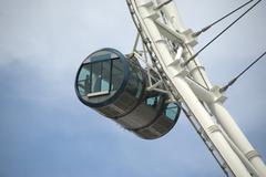 Singapore Flyer, Gondola on Gigantic Wheel Stock Photos