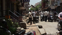 Street traffic in Pondicherry, India Stock Footage