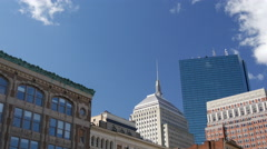 Time lapse from downtown Boston, Massachusetts, USA Stock Footage