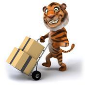 Fun tiger - stock illustration