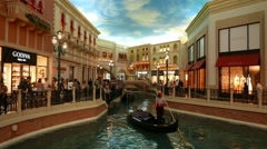 Grand Canal Shoppes in Venetian Hotel - no property release - editorial use only Stock Footage
