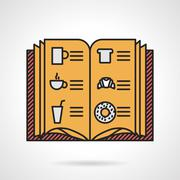 Stock Illustration of Cafe menu flat vector icon