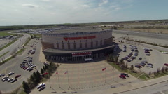 Aerial of Ottawa Canada's NHL Arena - Senators Hockey - Canadian Tire Centre Stock Footage