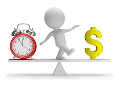 3d small people - time is money Stock Illustration