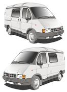 Vector delivery / cargo van Stock Illustration