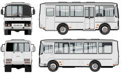 Stock Illustration of urban / suburban passenger mini-bus
