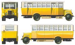 Hi-detailed vintage city bus 30-s Piirros