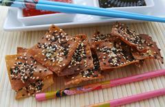wan tan cracker - stock photo