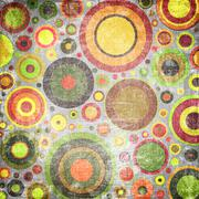 grunge colorful circles - stock photo